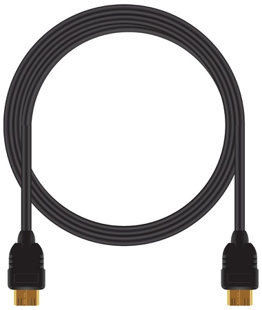plugin: Twisted video cable for video and computer equipment. illustration.
