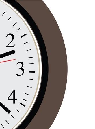 clockface: The segment of the dial. illustration.