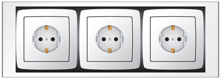 European standard Set of sockets. illustration. Çizim