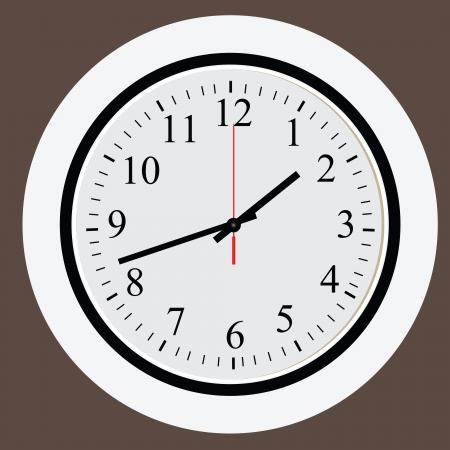 현대적인 사무실 디자인의 시계 다이얼. 삽화. 일러스트