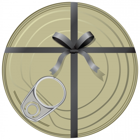 Conservatives gift wrapped in a ribbon with a bow. illustration.