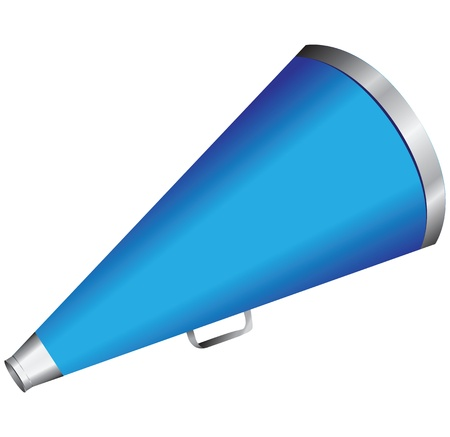 mouthpiece: Hand megaphone to amplify voices Illustration