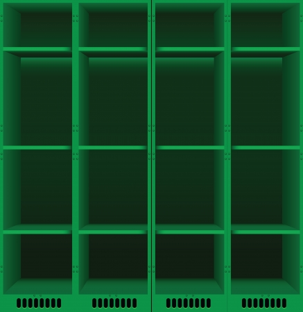 Options steel lockers for changing rooms in public places.  illustration. Vector