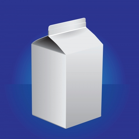Small cartons for milk products. illustration. Vector