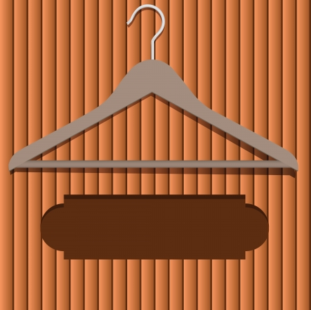Location for the advertising text under clothes hanger. Vector illustration. Vector