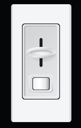 dimmer: Device for controlling the intensity lamp. Vector illustration.