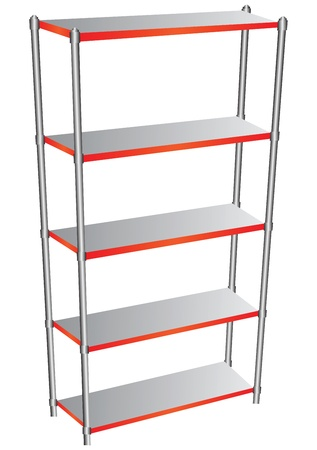 Shelf for garage and industrial use. Vector illustration.