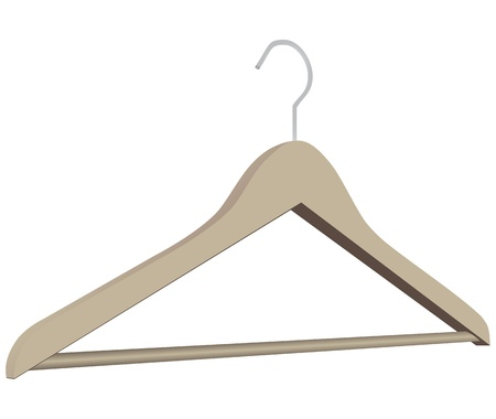 clothing rack: Tool to store and clothing sales. Clothes hanger.  Illustration