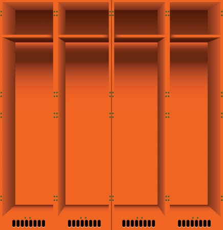 Options steel lockers for changing rooms in public places.  Vector