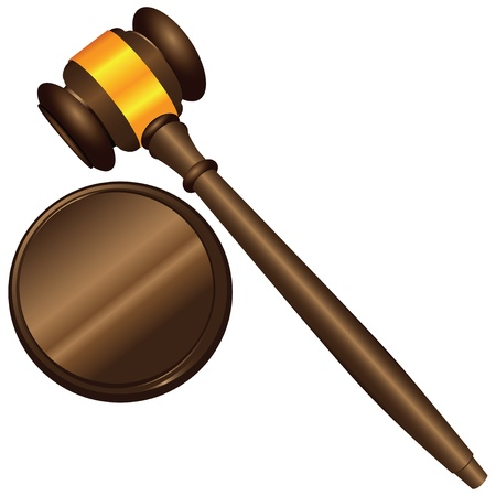 Tool used in court and in auctions.