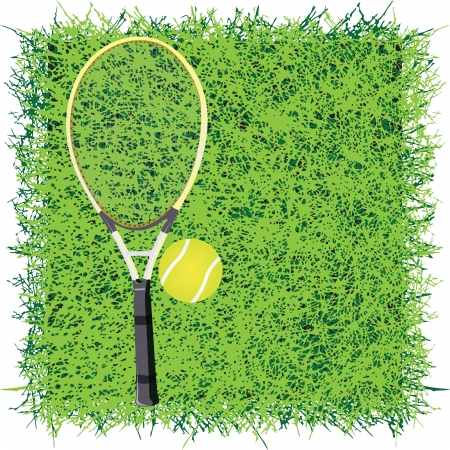Turf for the game of tennis. Vector illustration.