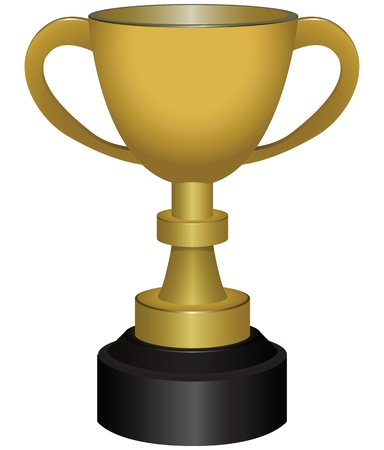 Cup - the trophy is awarded the winners of various competitions. Vector illustration.