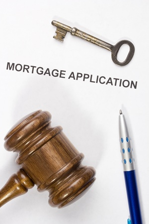 Directly above photograph of a mortgage application. Stock Photo - 18758251
