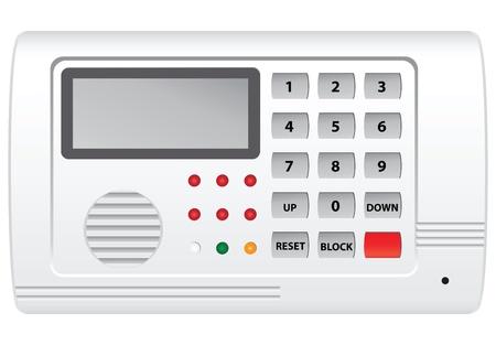 Panneau de contrôle de la sécurité numérique avec afficheur. Vector illustration. Vecteurs