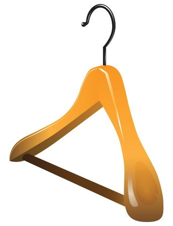 Wooden hanger for large and outerwear.  Stock Vector - 18847189