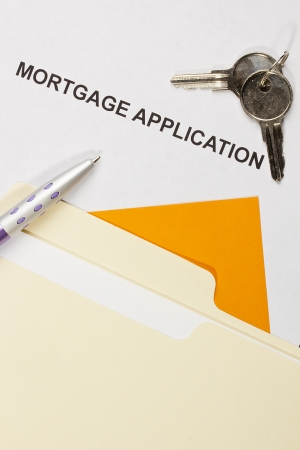 Directly above photograph of a mortgage application. Stock Photo - 18882746