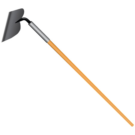 hoe: Industrial hoe - a tool for mixing mortar and work in agriculture.