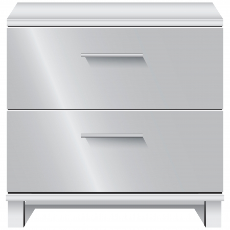 drawers: Office furniture  Document storage with two drawers  Vector illustration