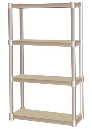 plant stand: Shelf for garage and industrial use.  illustration.