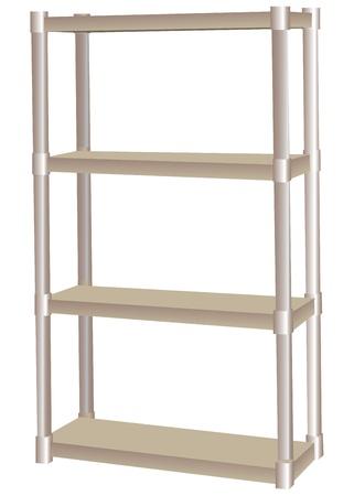 Shelf for garage and industrial use.  illustration.