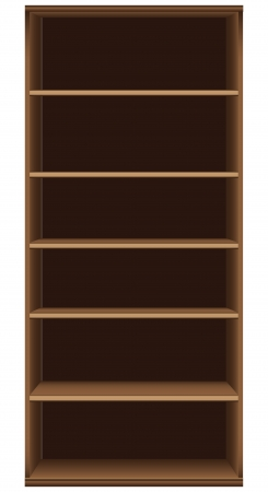 Office bookcase six shelves. Furniture section.  Stock Vector - 19154369