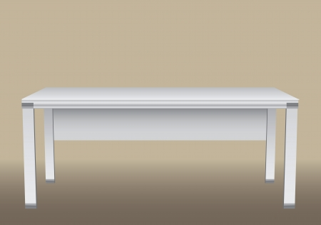 Large office desk for office equipment.    Vector