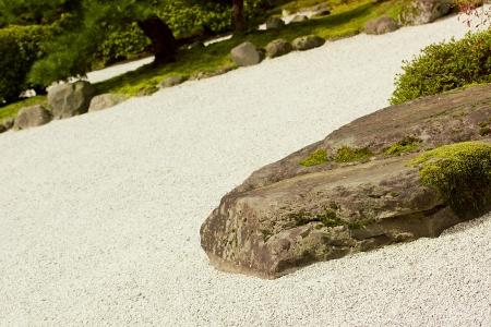 Stone garden in the Japanese style. Dry garden. photo