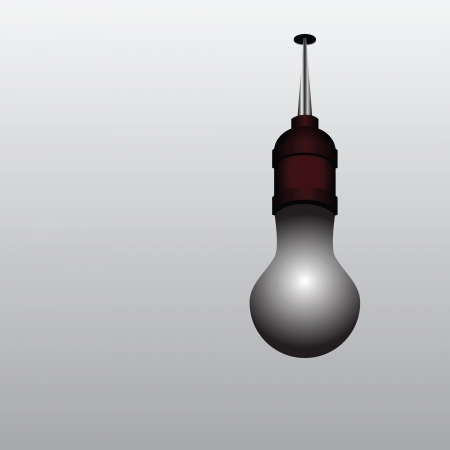 burned out: Burned out light bulb on the ceiling. Vector illustration. Illustration