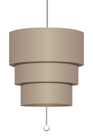 fixture: Simple modern chandelier for offices.