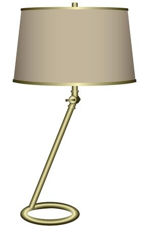 Modern desk lamp for home and office ..  Illustration