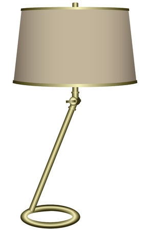 lampshade: Modern desk lamp for home and office ..  Illustration