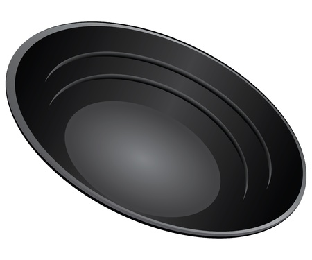 Gold Pan Plastits for manual extraction of gold.