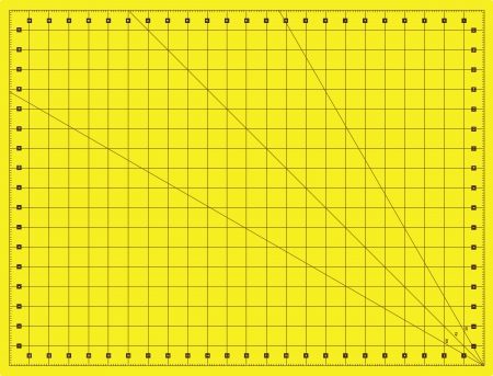 Litter printed with a grid for measuring creativity and cutting various items. Vector illustration.