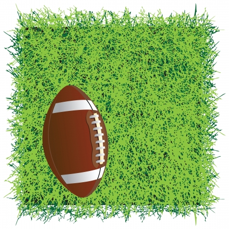 sward: Ball for the game of American football. Vector illustration.