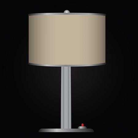 in the shade: Decorative table lamp with shade. Vector illustration.