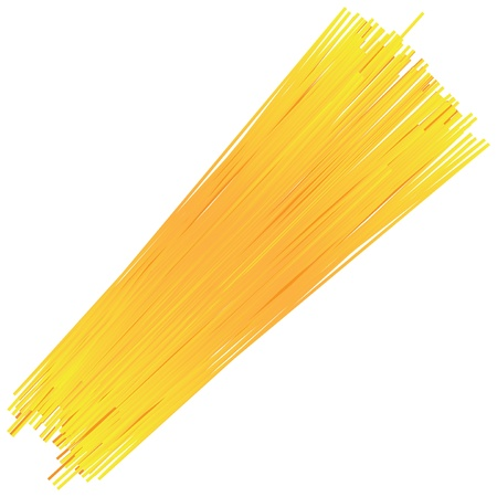 Uncooked spaghetti noodles isolated on a white background. Vector illustration. Illustration