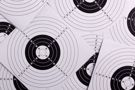 constitute: Shooting targets constitute the background. Sports shooting.