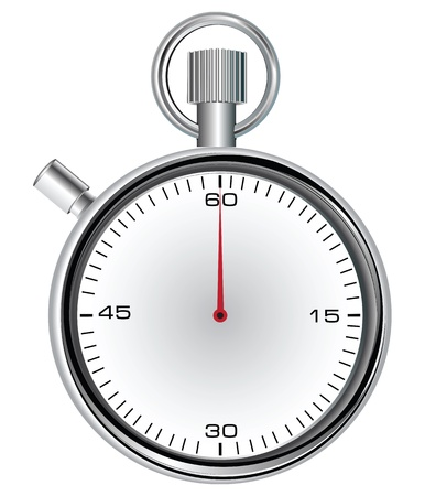 Stopwatch with 60 second dial for timekeeping time.