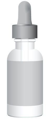Medical product with a pipette bottle. Vector illustration.