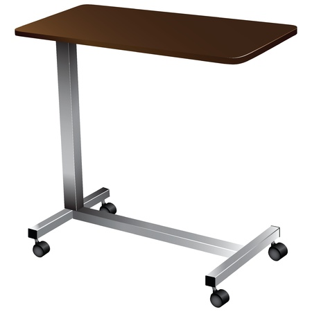 medical equipment: Lightweight portable medical table for tools. Vector illustration.