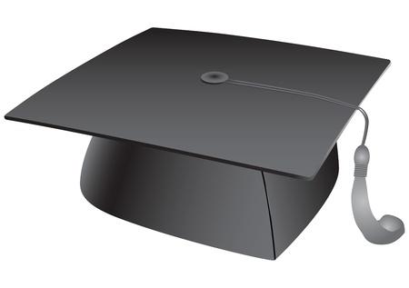 graduation cap: Student hat with a tassel. Vector illustration. Illustration