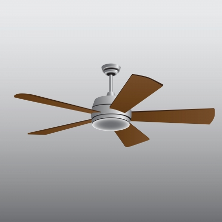 Ceiling Fan for living and office. Vector illustration. Illusztráció