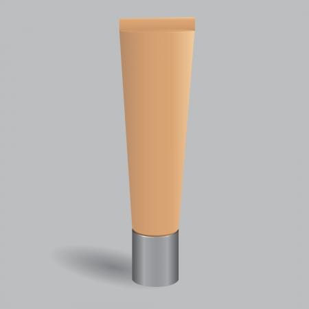 Plastic buis met een cosmetische crème. Vector illustratie. Stock Illustratie