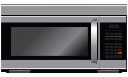 Microwave - modern kitchen equipment. Vector illustration.