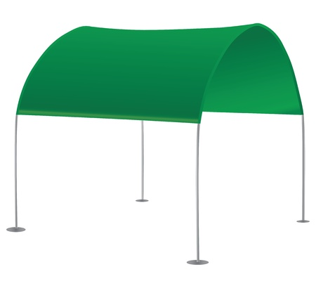 overhang: Comfortable sun awning for summer vacation. Vector illustration. Illustration