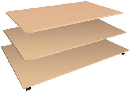 �tag�re bois: Pr�sentez �tag�re en bois pour de bon. Vector illustration,