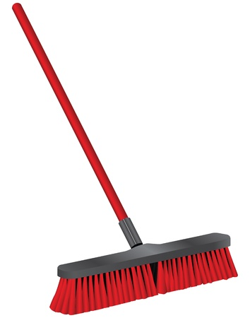 Brush for cleaning of industrial buildings. Vector illustration.