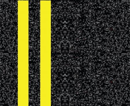 bitumen: Road markings on the pavement. Double yellow centerline. Vector illustration.