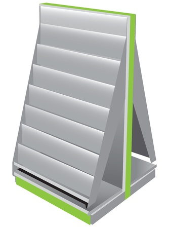 Trade Stand for magazines and newspapers. Vector illustration. Illusztráció
