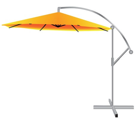 sunblind: Awning over with regulator tilt. Vector illustration.
